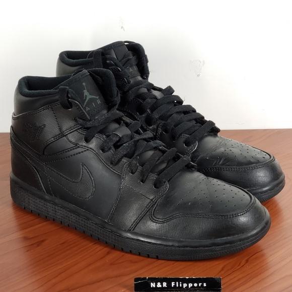Nike Other - Nike Air Jordan 1 Mid Retro Tripple Black Size 8.5